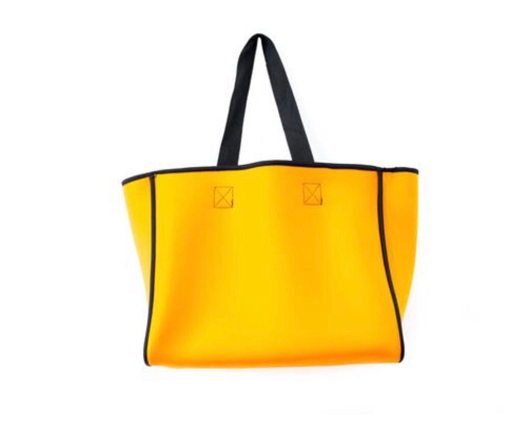 Punch Neoprene Reversible Tote bag Navy/orange - Sands Boutique clothing and gifts