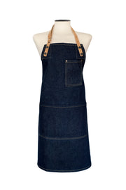 Denim and Cork Apron handmade in the uk British design Risdon & Risdon