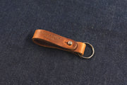 Leather keyring handmade in the UK split ring risdon & risdon