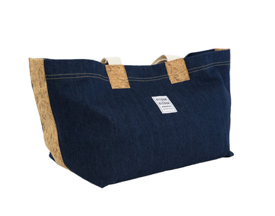 Risdon & Risdon Bag Cotton Straps Candiani Denim and Cork British Summer Bag