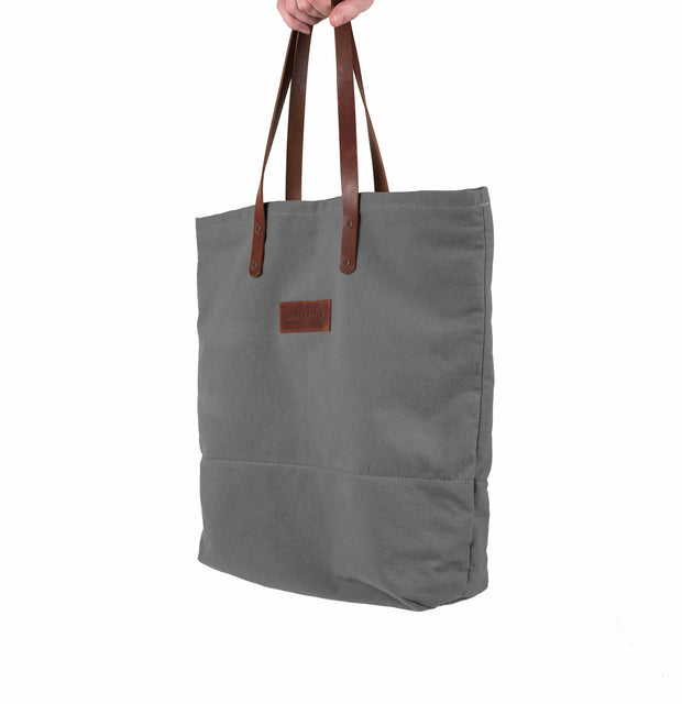Canvas & Leather Tote Bag