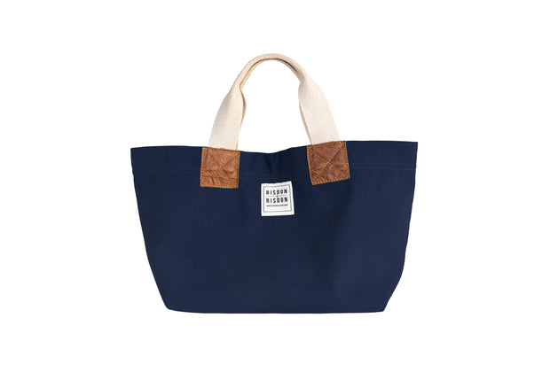 risdon and risdon mini canvas and leather bag made in the uk british design navy