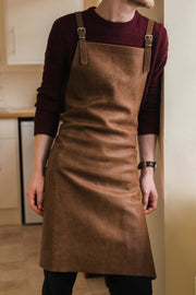 Handmade top grain leather apron British design quality Risdon & Risdon UK
