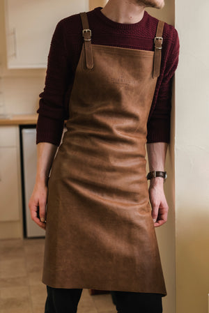 Artisan Leather Cross-back Apron