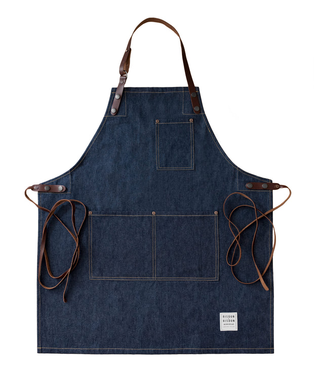 Denim and Leather Street Apron