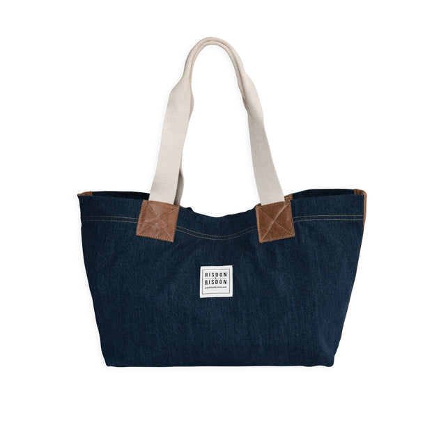 Market Bag with leather - available in Canvas and denim