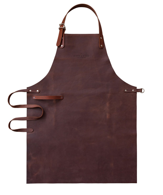 British made in England full leather apron bespoke design tan risdon and risdon chef