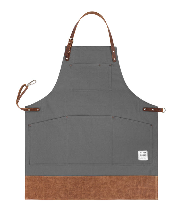 Original Apron with Leather Straps and Trim