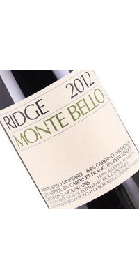 Ridge Monte Bello 2012