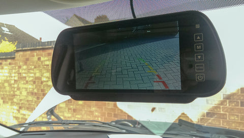 Mirror monitor to view the reverse camera image