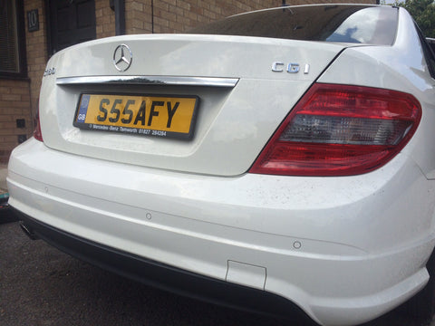 Mercedes flush fit parking sensors with mobile fitting