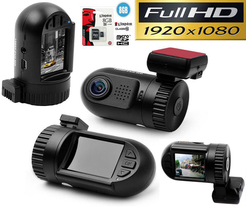 Micro Dash cam with GPS & LCD
