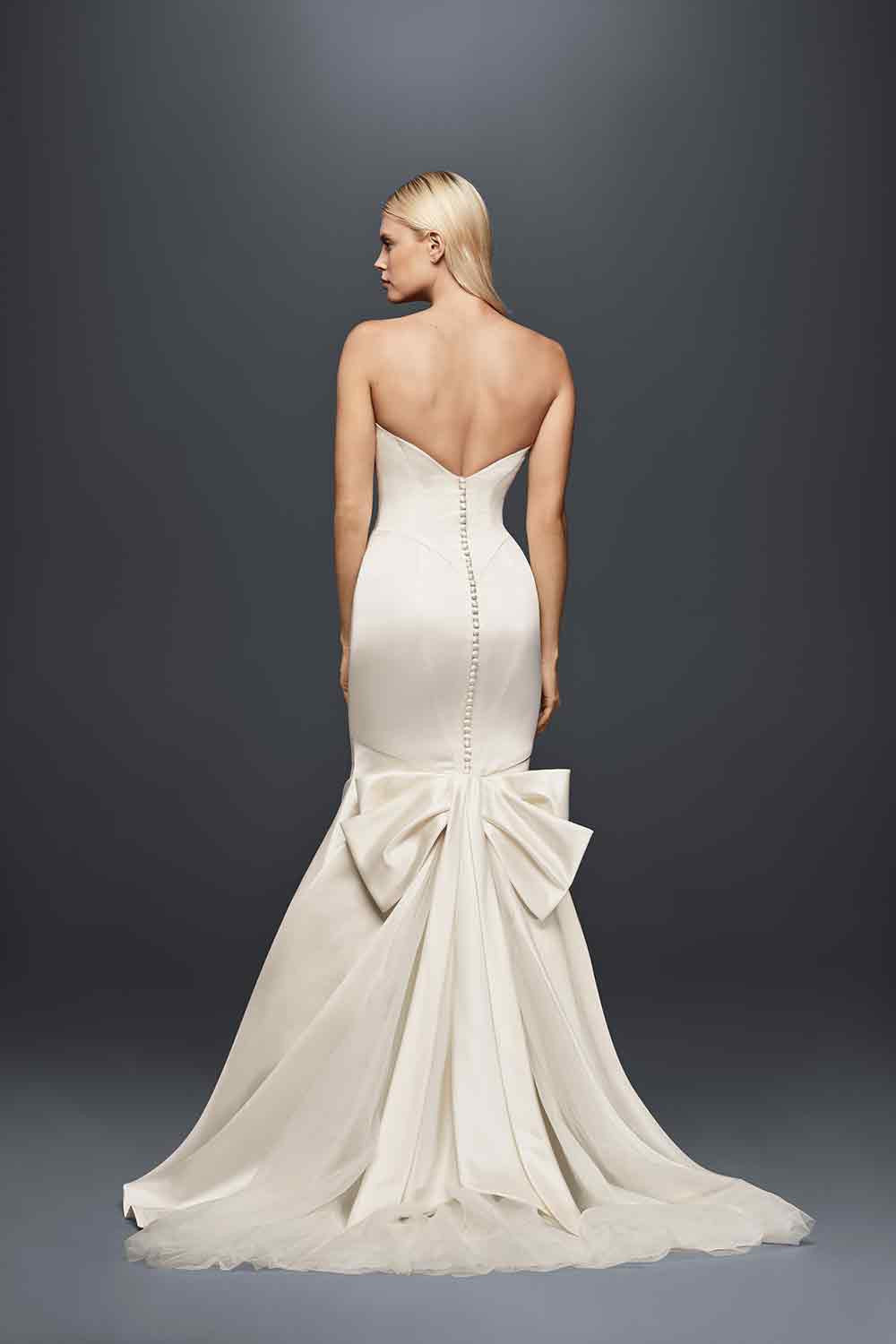 Bow wedding dress - hitched.com