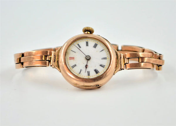 Early 20th century rose gold wristwatch