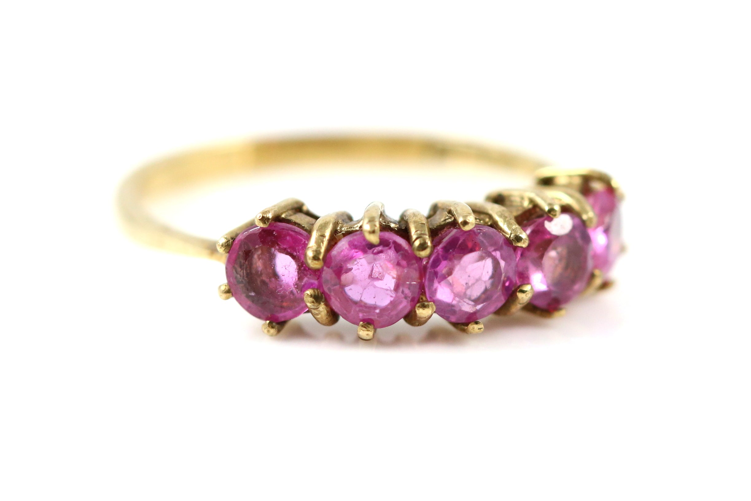 9ct Gold Vintage Pink Sapphire Ring