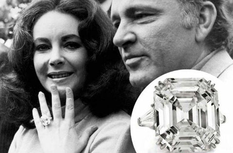 Elizabeth Taylor's 33-carat Asscher cut Krupp diamond engagement ring