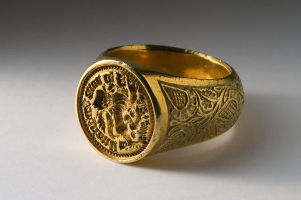 medieval gold signet ring