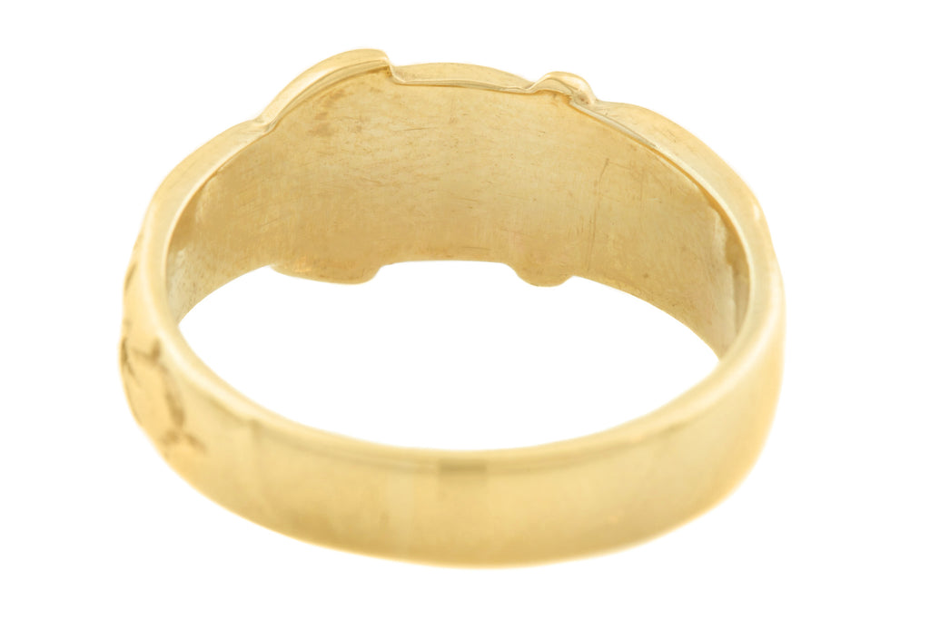 9ct Gold Buckle Ring