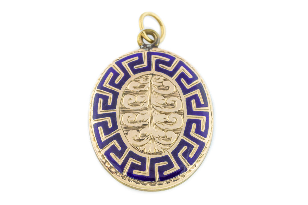 Antique Gold Mourning Pendant - c.1850