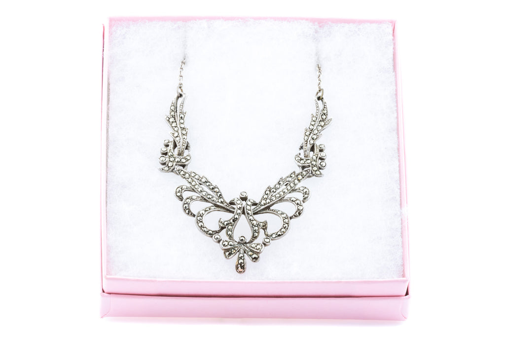 Art Deco Silver Marcasite Necklace