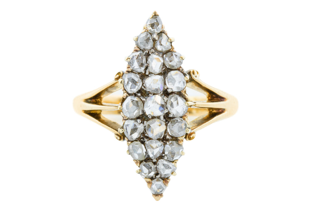 Victorian Diamond Navette Ring 2.0cts