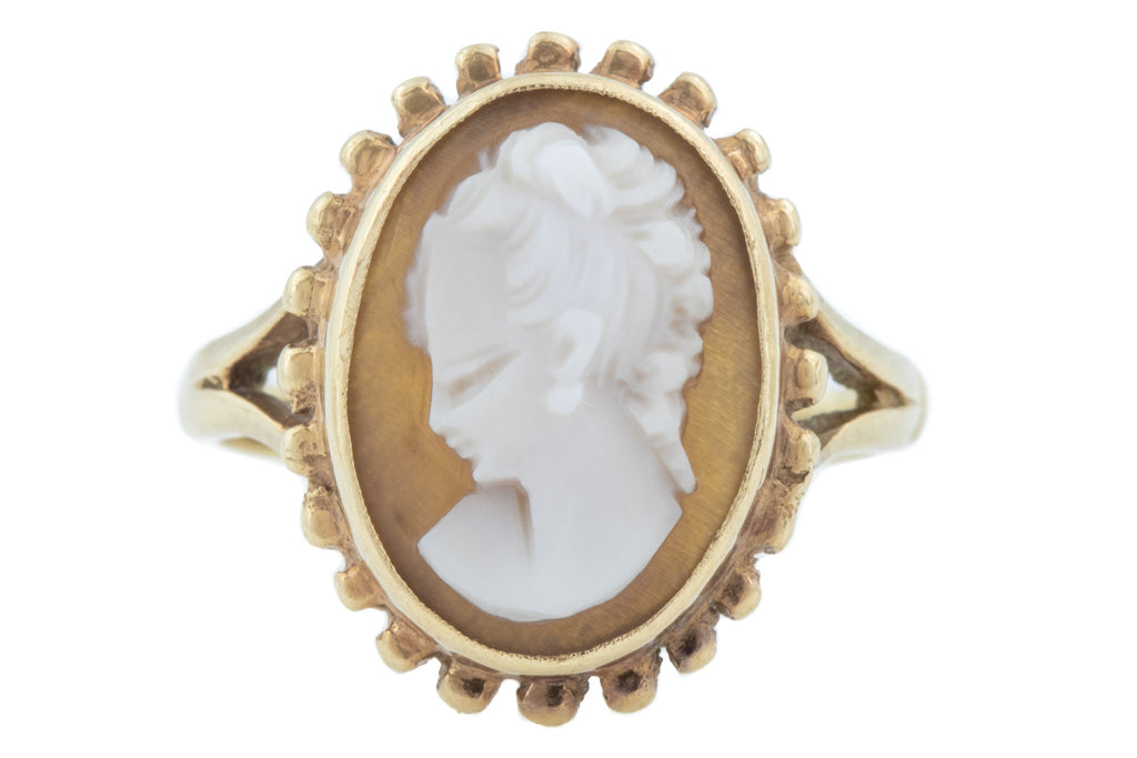 Vintage 9ct Gold Cameo Ring c.1992