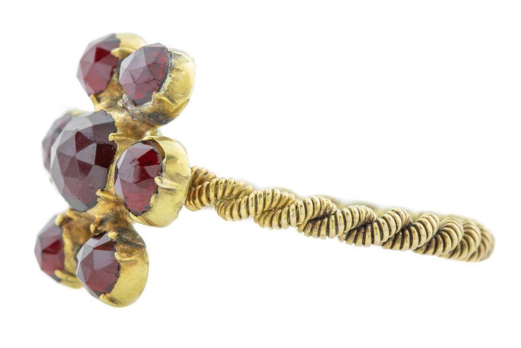 Antique Garnet Cluster Ring c.1850