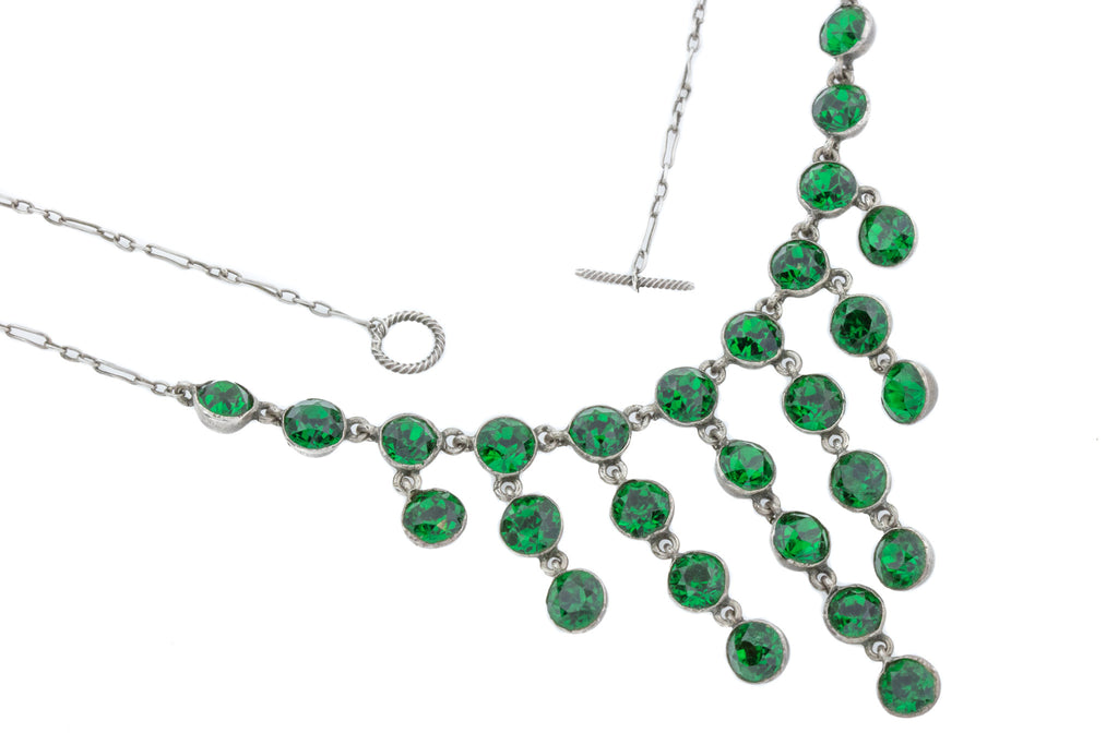 Antique Green Paste Necklace c.1880