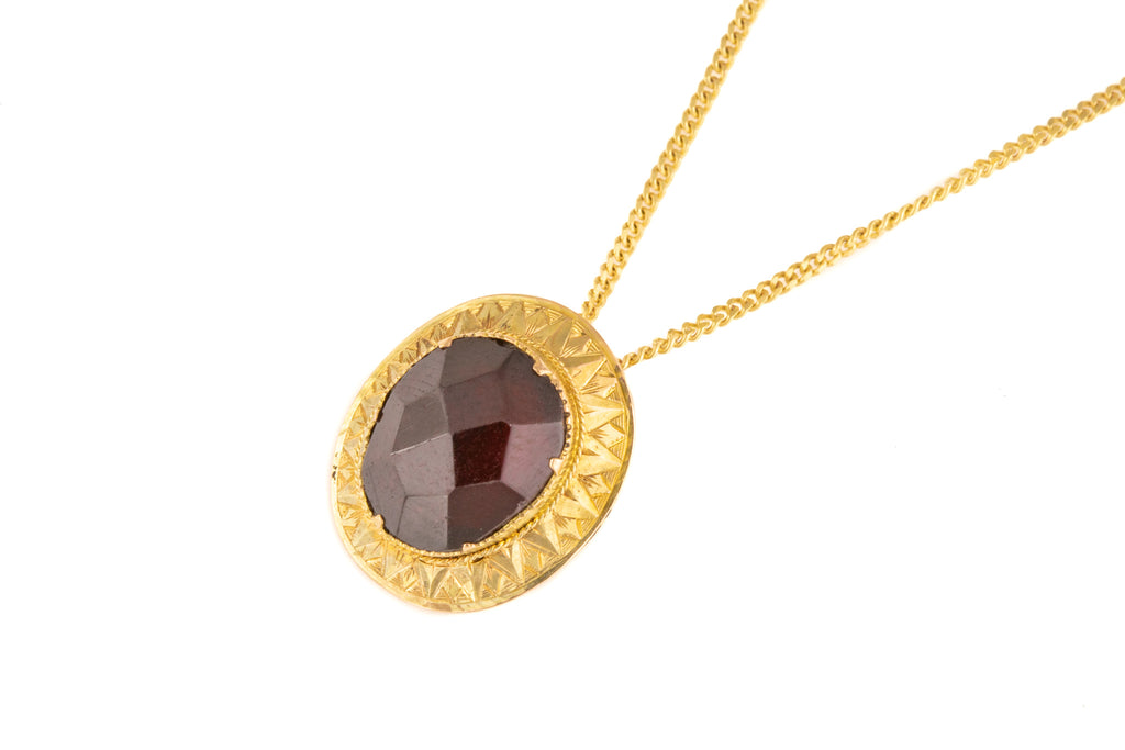 Victorian Garnet Pendant in 9ct Gold