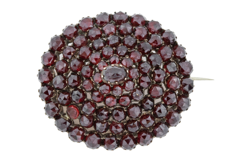 Antique Bohemian Garnet Brooch c.1850