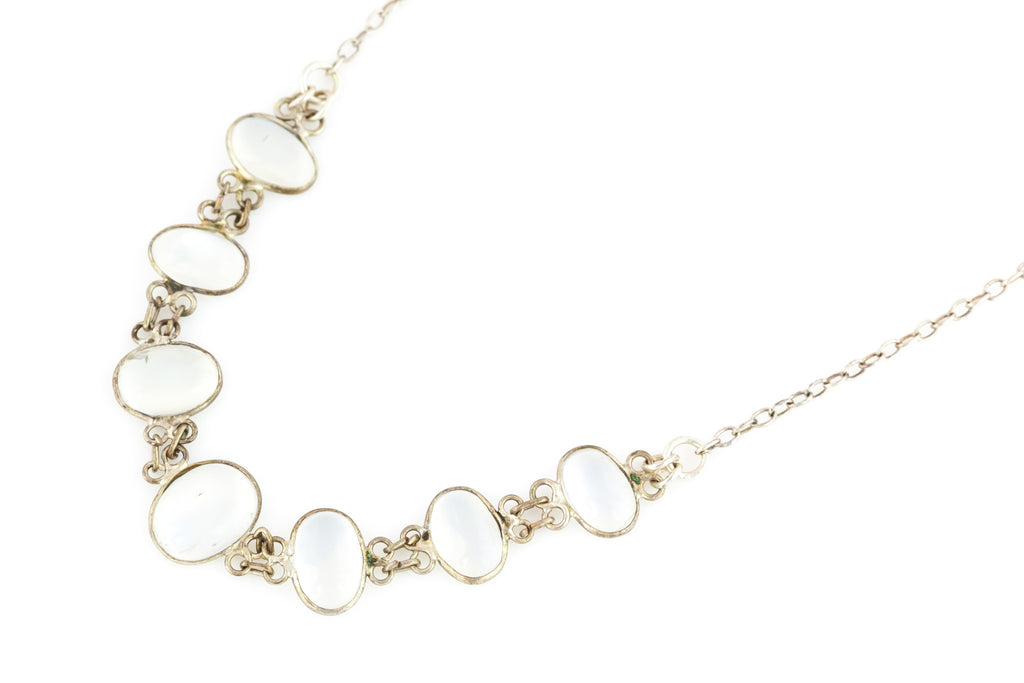 Antique Silver Moonstone Necklace