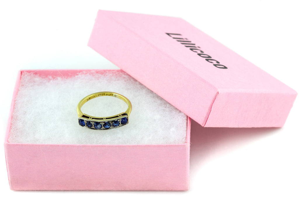 18ct Gold Art Deco Sapphire Ring