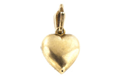 Antique Victorian Paste Heart Pendant & Chain