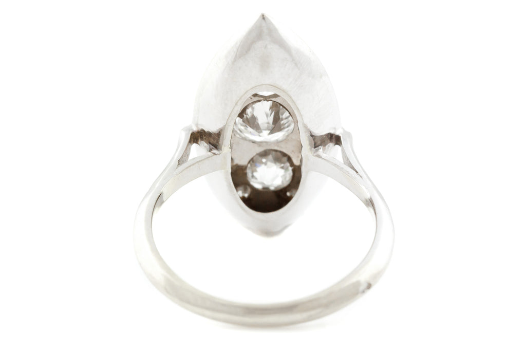 18ct Gold Art Deco Navette Marquise Ring