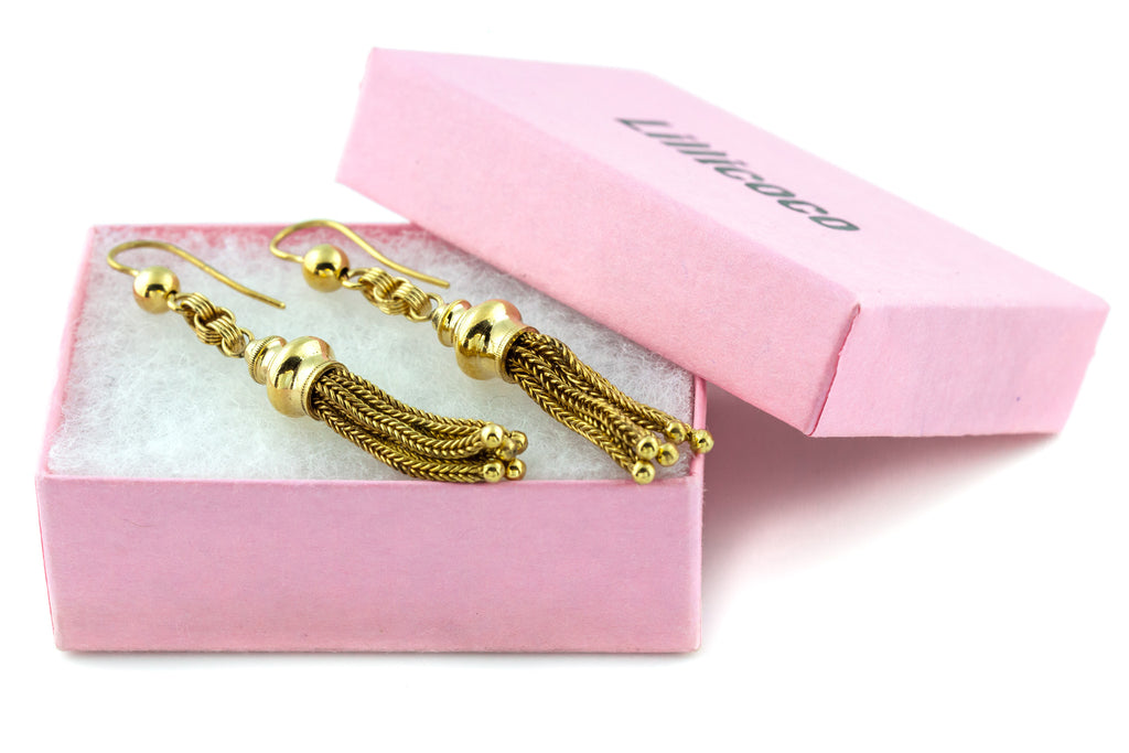 RESERVED! Victorian 9ct Gold Tassel Earrings
