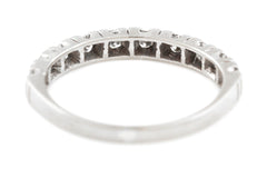 Art Deco Diamond Wedding Band in 18ct White Gold c.1920