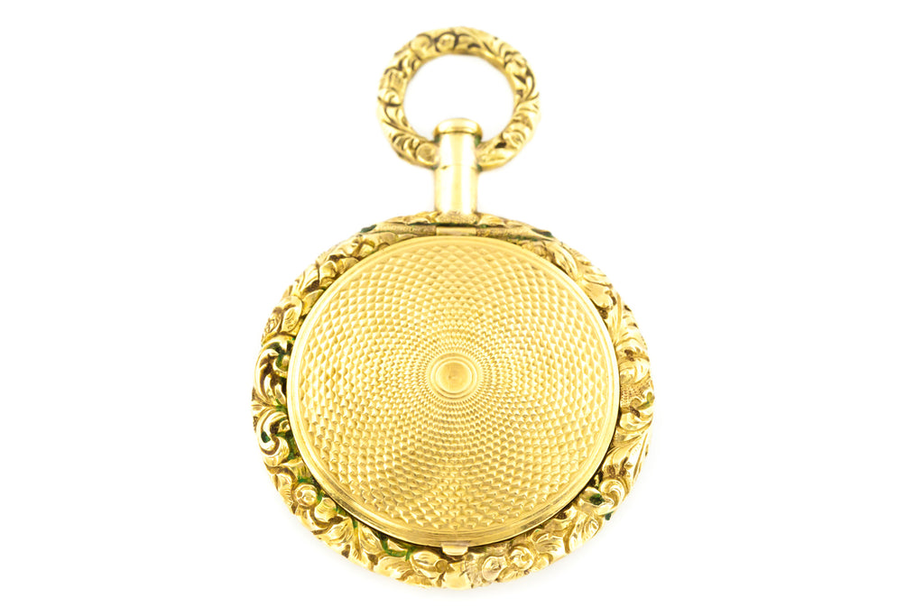 Antique 9ct Gold Shaker Locket, with Chain - Georgian Gold Shaker Locket c.1820