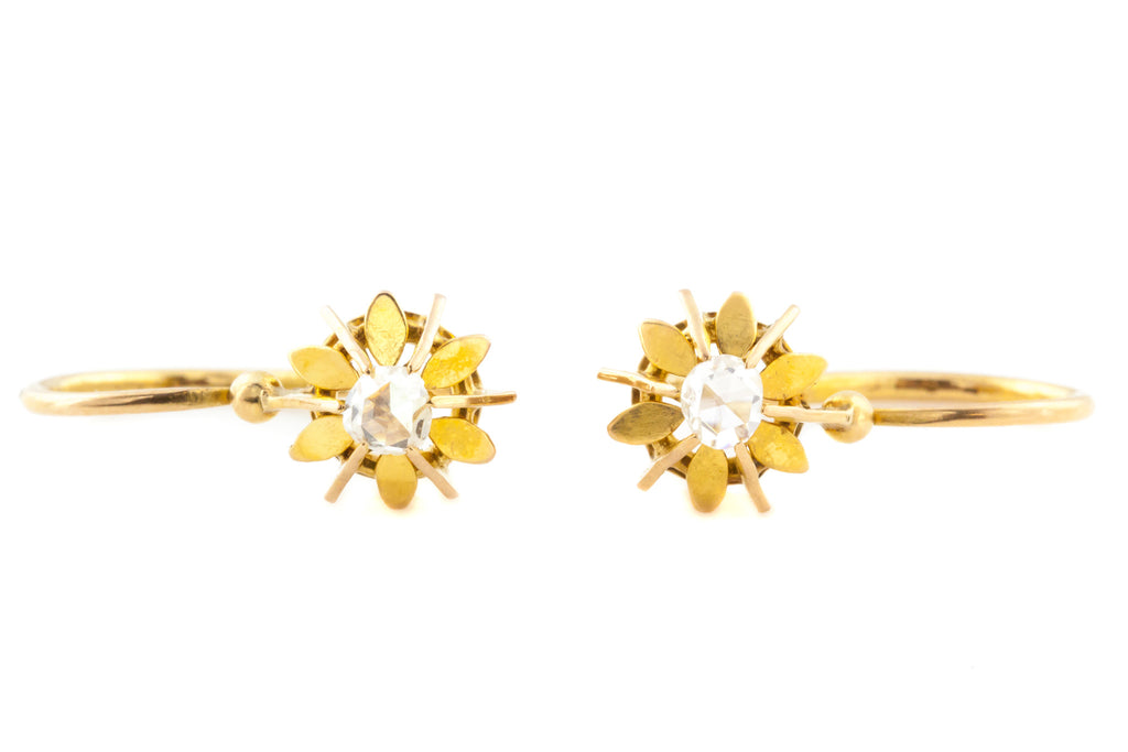 RESERVED! - 18ct Gold Victorian Diamond drop Earrings (0.25ct)