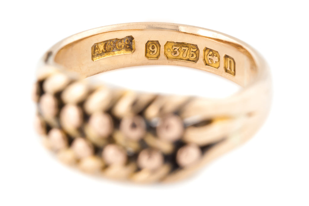 Edwardian Gold Keeper Ring c.1912