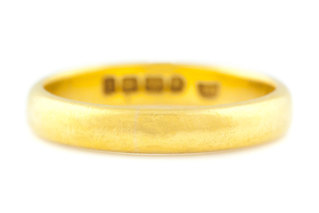 Antique 22ct Gold Wedding Band c.1865