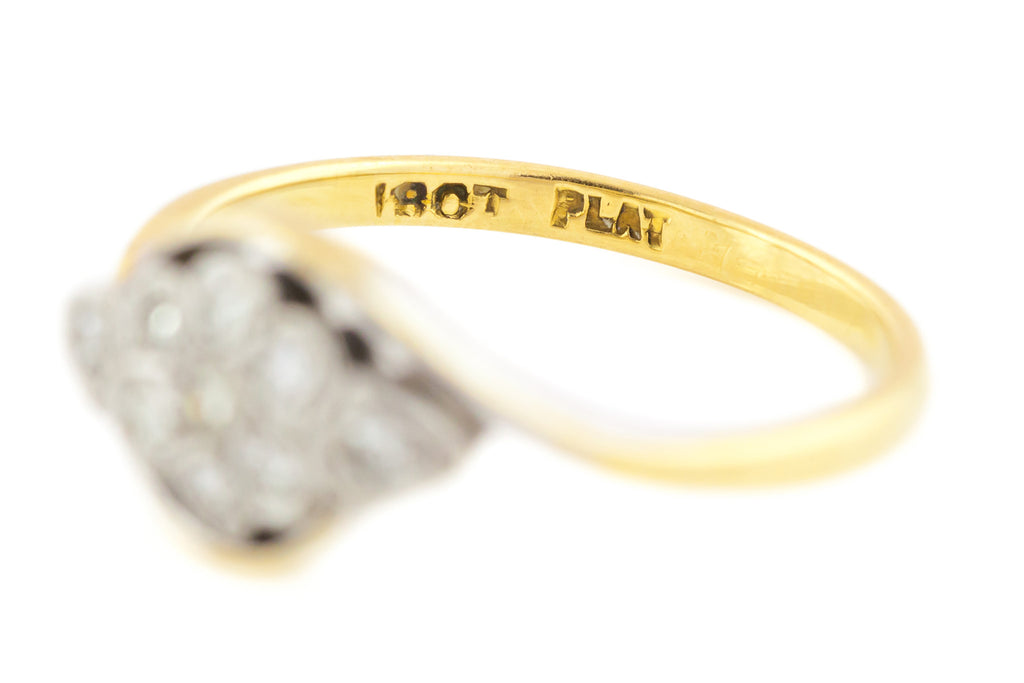 Gorgeous Art Deco 18ct Gold Diamond Ring c.1920