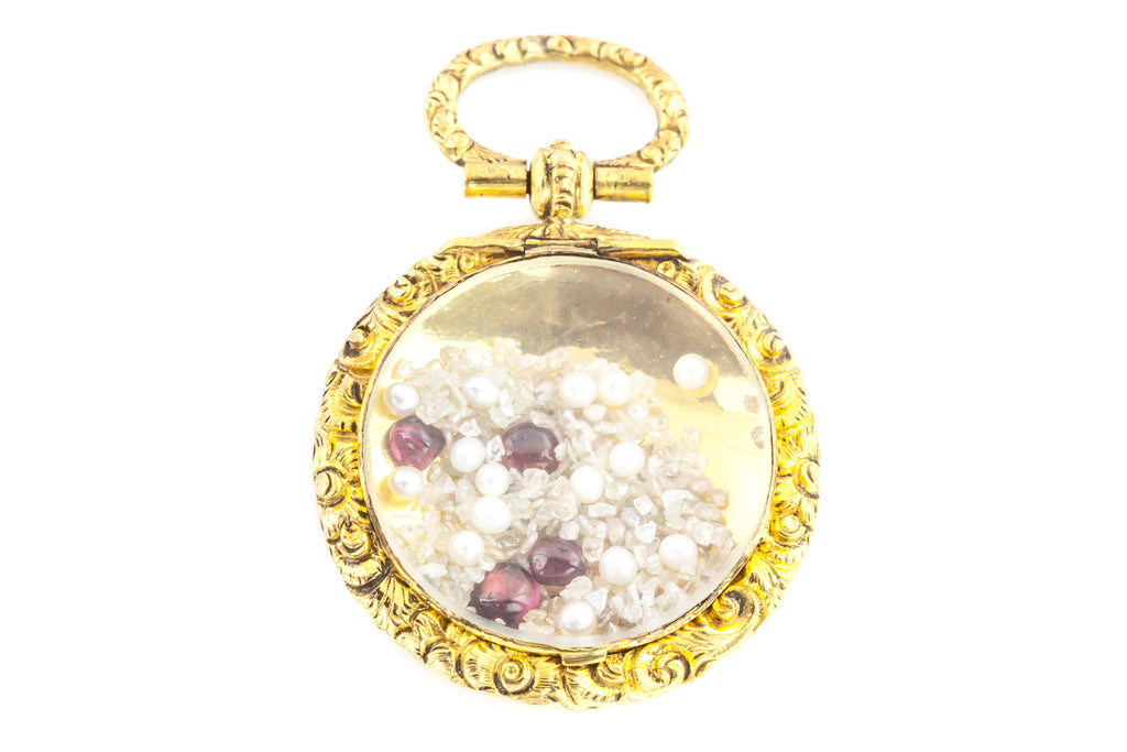 Antique victorian pendants from lillicoco 9ct gold antique shaker locket pendant aloadofball Images