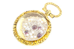 9ct Gold Antique Shaker Locket Pendant