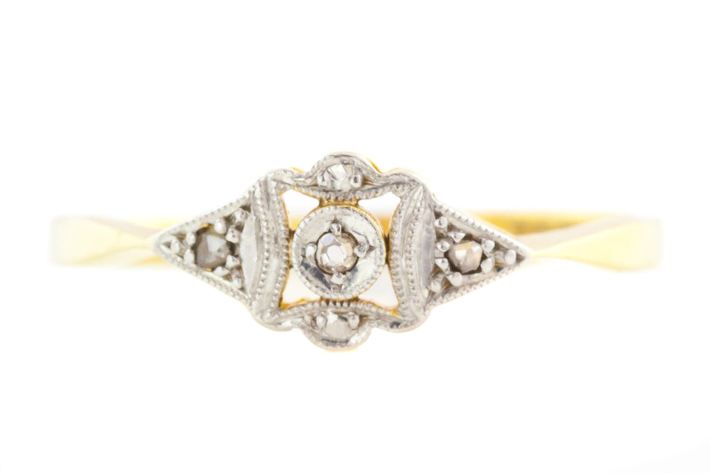 18ct Gold and Platinum Art Deco Diamond Ring c.1920