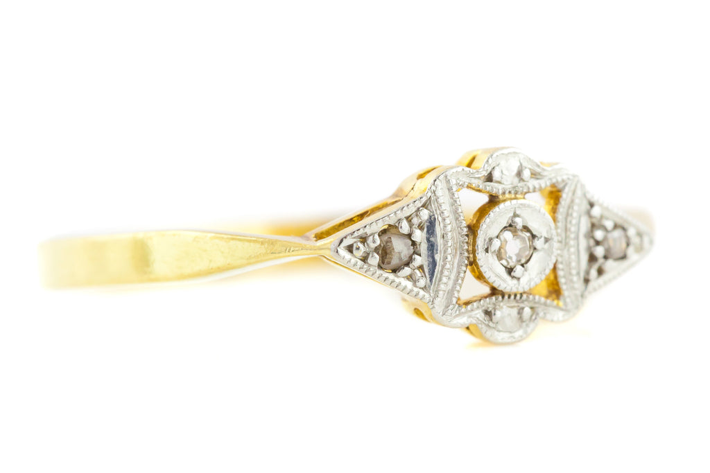 Art Deco Diamond Trilogy Ring c.1930