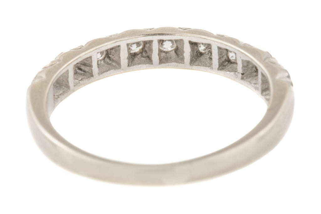 18ct White Gold Diamond Wedding Ring (0.33ct) - 18ct White Gold Diamond Eternity Ring
