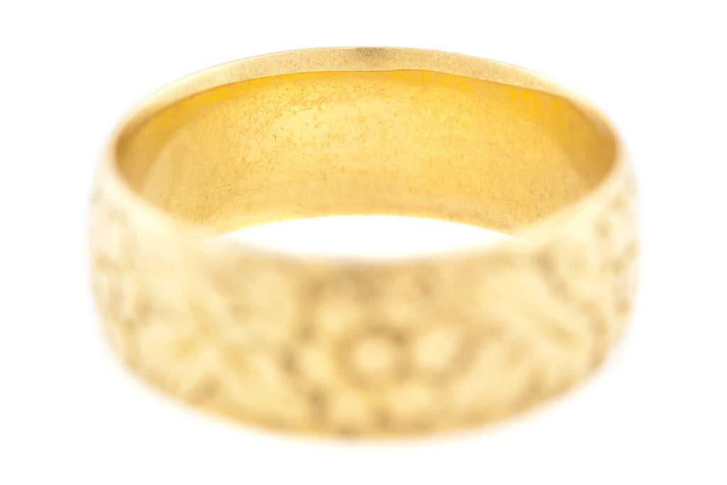 18ct Gold Antique Wedding Band - England c.1896