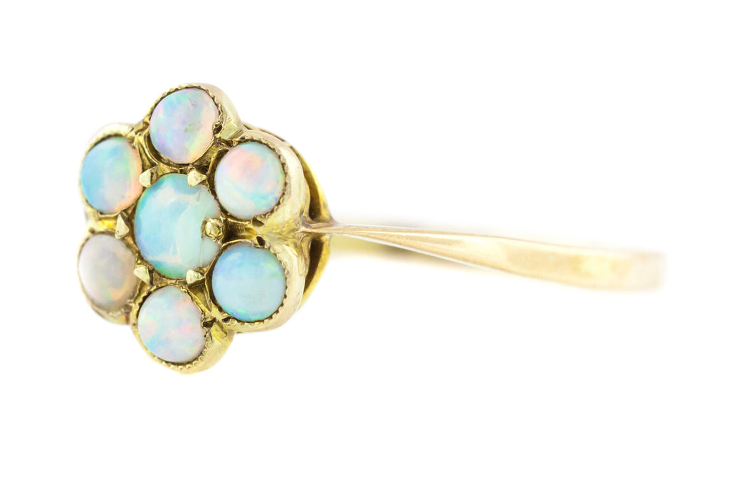 Sweet antique 9ct Gold Opal Cluster Ring