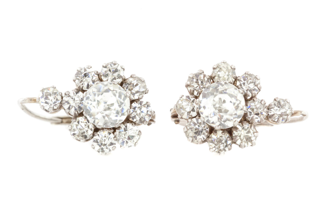 Antique French Paste Earrings with Lever Backs c.1900