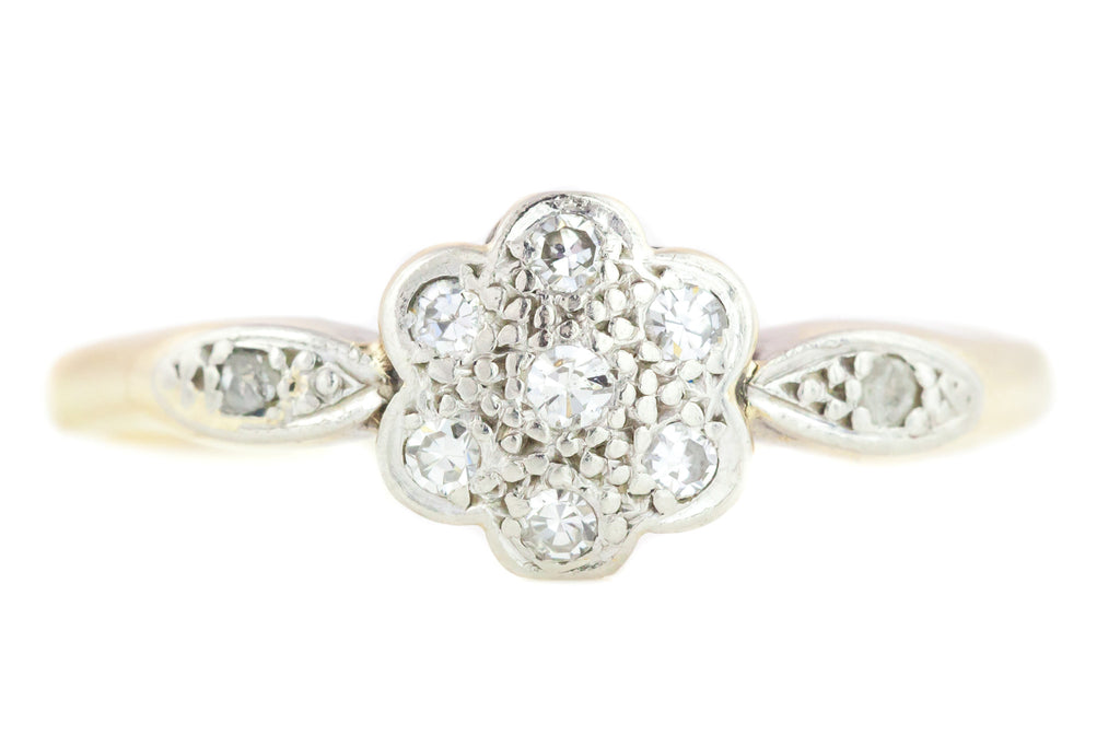 Art Deco Diamond Flower Ring c.1920
